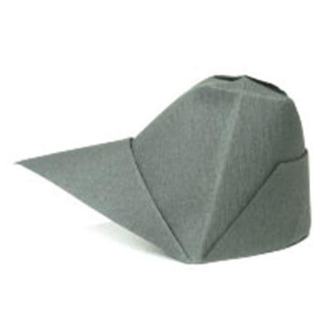 How To Make Origami Cap - how to make origami cap