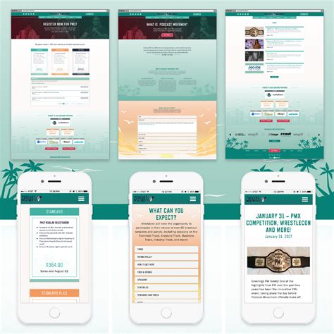 2017 Podcast Movement Website Design Branding By Square 205 Podcast Website Template
