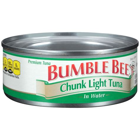 what is chunk light tuna bumble bee canned chunk light tuna in water 5 oz jet com