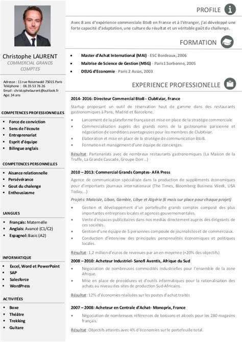 Cv In Commercial Cv Christophe Laurent Commercial Grands Comptes