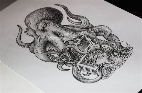 treasure tattoo designs 15 kraken designs