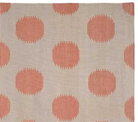 Genevieve Gorder For Capel Coral Dot Dhurrie Rug Pottery Barn Coral Rug