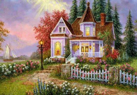 country cottage wallpaper country cottage other abstract background wallpapers