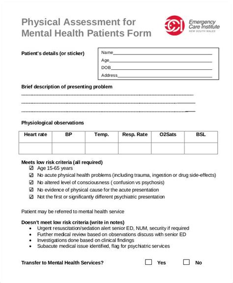 health assessment template therapy progress note template
