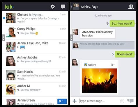 kik app free for android best free texting app for android chatting apps