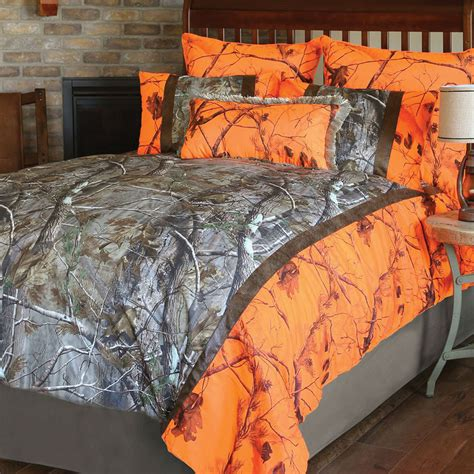 camouflage bed set realtree ap and orange blaze ap camo bedding collection