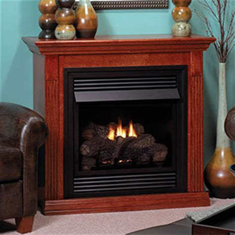 vent free gas fireplace cabinets vail 26 inch cherry vent free gas fireplace mantel package