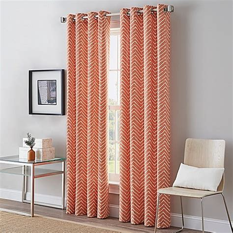 bed bath and beyond window curtains herringbone grommet top window curtain panel bed bath
