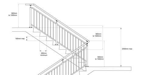 handrail section fires stair specification requirements 187 monkey toe