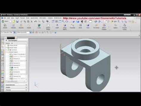 solidworks tutorial yt siemens nx cad basic modeling training tutorial for