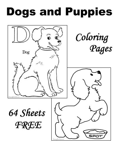 Ordinal Animal Character 07 coloring pages of dogs and puppies