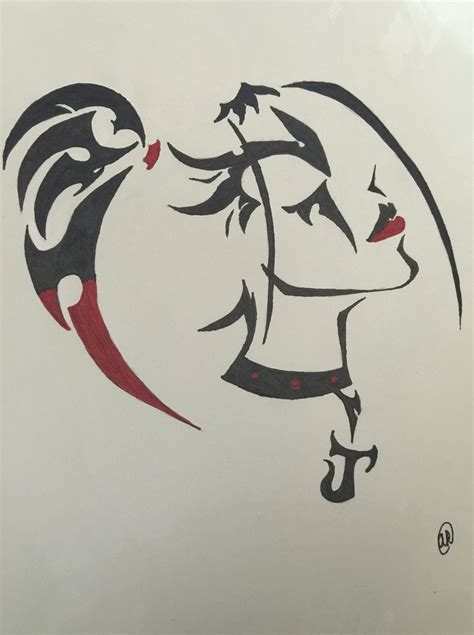 harley tribal tattoos harley quinn tribal by lps106 on deviantart