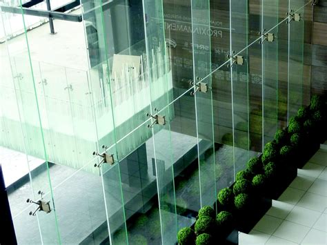 glass fin curtain wall curtain wall point supported spider system with glass