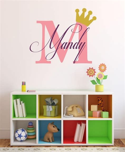 Online Store Baby Girl Initial Personalized Custom Name Personalized Nursery Wall Decals