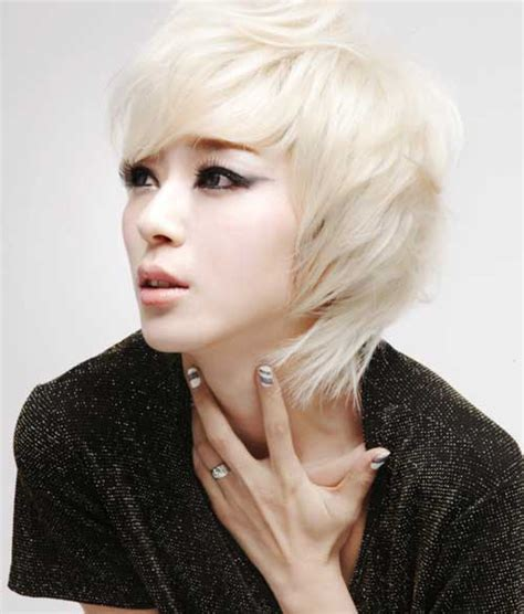 blonde asian bob popular asian short hairstyles short hairstyles 2017