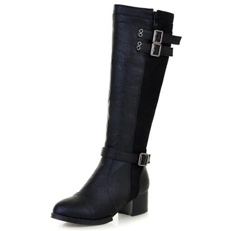 cheap winter fashion toe zipper buckle design chunky