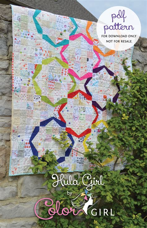 Modern Patchwork Quilt Patterns - hula quilt pattern now on sale color quilts by