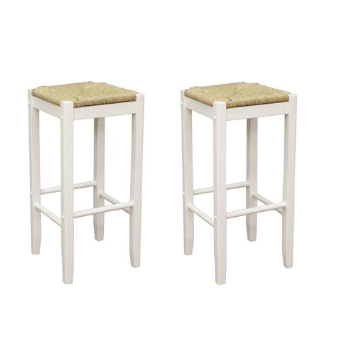 Rustic Backless Bar Stools by Rustic White Wood Backless Bar Stool Design Of Beautiful