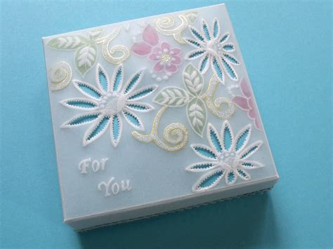Parchment Paper For Crafts - quot for you quot parchment craft gift box pattern 31