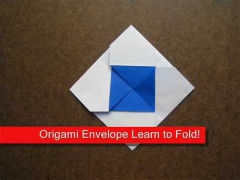 Origami Square Envelope - how to fold origami square envelope origamiinstruction