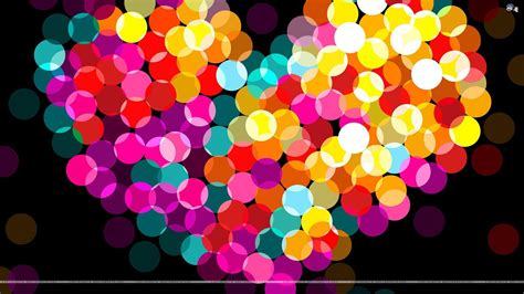 Wallpaper Of Colorful Hearts | colorful hearts wallpapers wallpaper cave