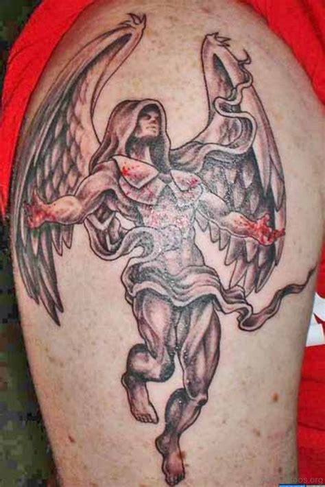 77 Perfect Guardian Angel Tattoos On Arm Guardian Tattoos For On Shoulder