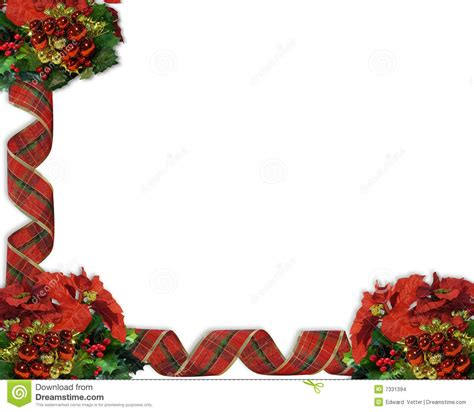 christmas border ribbons stock images image