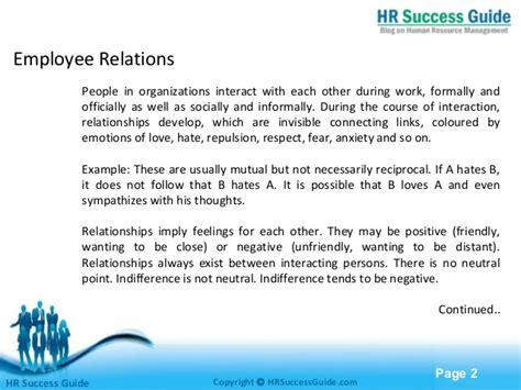 Industrial Relations Policies Mba Notes by Employee Relations