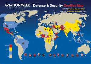 World Conflict Map by Defense Amp Space Conflict Map