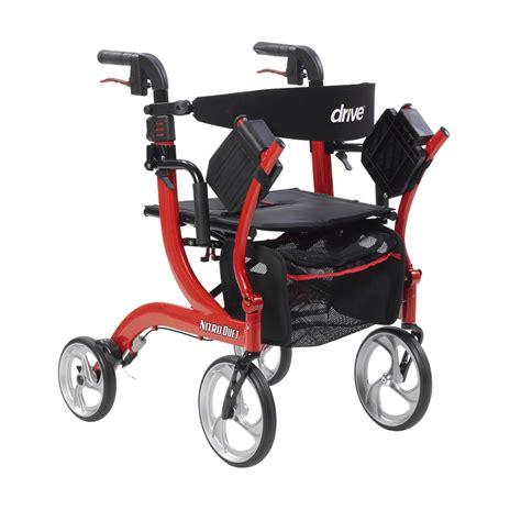 Drive Duet Rollator Transport Chair - drive nitro duet rollator and transport chair
