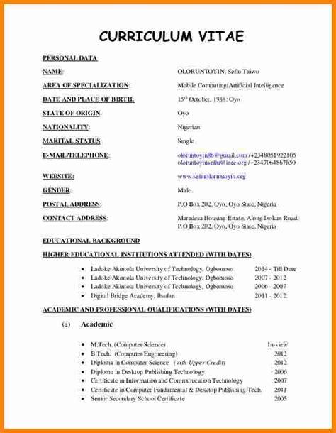 latest cv format in pakistan curriculum vitae samples pdf template