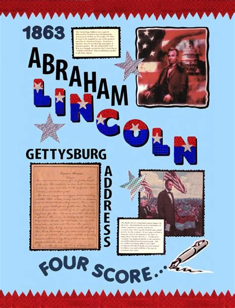 make a poster about abraham lincoln gettysburg address