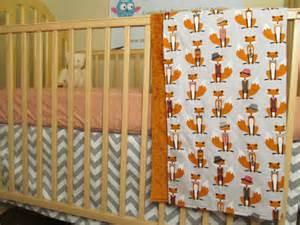 fox baby bedding baby boy fox bedding blanket sheet and crib skirt by