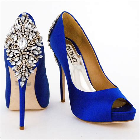 Blue Bridal Shoes by Blue Wedding Shoes Badgley Mischka Bridal Shoes