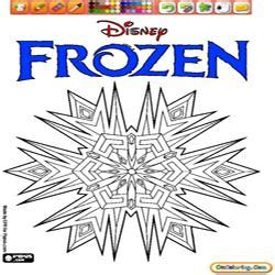 frozen logo coloring page free coloring pages