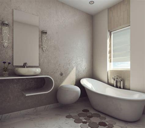 3d modern earthy design bath room cgtrader