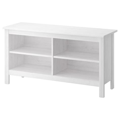 ikea white storage bench brusali tv bench white 120x62 cm ikea