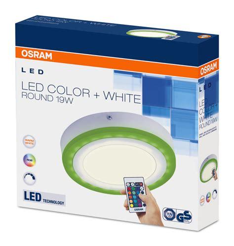 Lu Led 3 Warna 3 Color Push On 9 Watt Putihkuningwarmwhite led wall and ceiling luminaires with color adjustment osram ls