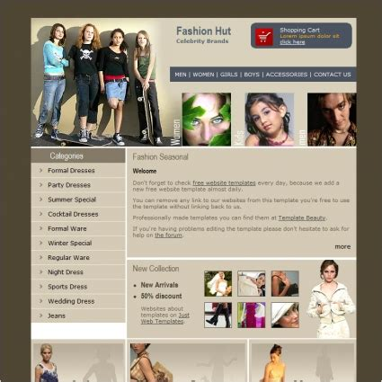 fashion templates for blogger free download fashion hut template free website templates in css html