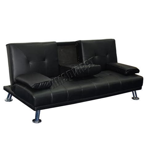 Sofa Bed Black Leather Westwood Faux Leather Manhattan Sofa Bed Recliner 3 Seater Modern Luxury Design Ebay