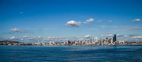 city west seattle pretty much a seattle day of the city skyline taken from alki in