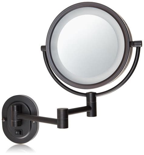 jerdon lighted magnifying mirror amazon com jerdon hl65bzd 8 inch lighted wall mount