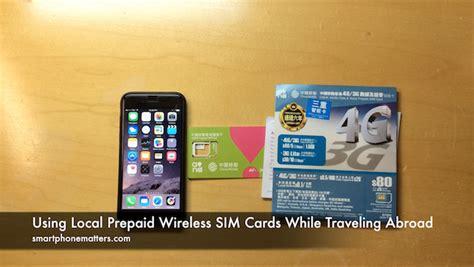 local prepaid wireless sim cards  traveling