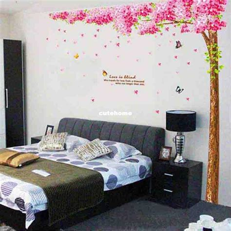 large wall decals for bedroom cherry tree large wall stickers bedroom sofa tv background