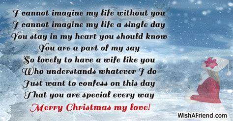 imagine  life  christmas message  wife