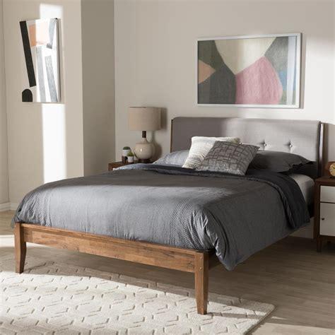 baxton studio leyton mid century gray fabric upholstered