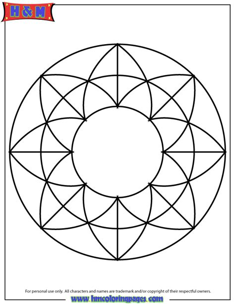 simple pattern colouring pages simple pattern mandala coloring page h m coloring pages