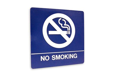no smoking sign blue door accessories architectural signs and decals ada