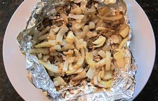 recipe for grilled sliced onions in a foil pocket