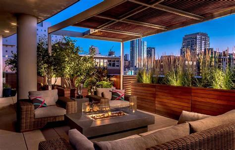 Rooftop Garden Design by Am 233 Nagement Terrasse Coquet Pour Une Ambiance Conviviale